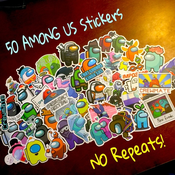 50 AMONG US Stickers decals